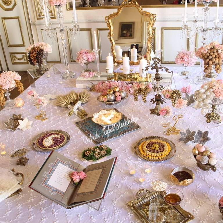 Persian Wedding: Persian Wedding Sofreh Aghd & Wedding Favors- Stockholm